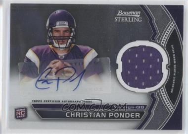 2011 Bowman Sterling Autograph Relics #BSAR-CP - Christian Ponder