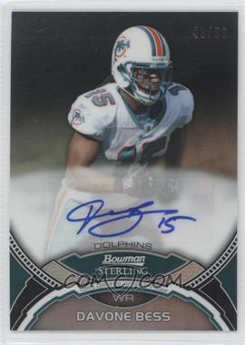 2011 Bowman Sterling Black Refractors #DB - Davone Bess /50