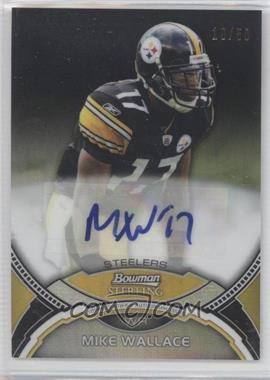 2011 Bowman Sterling Black Refractors #MW - Mike Wallace /50