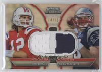 Tom Brady, Ryan Mallett /75