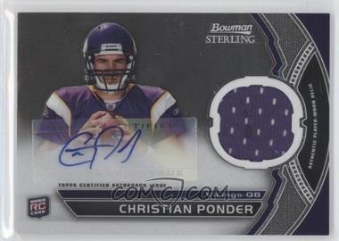 2011 Bowman Sterling #BSAR-CP - Christian Ponder