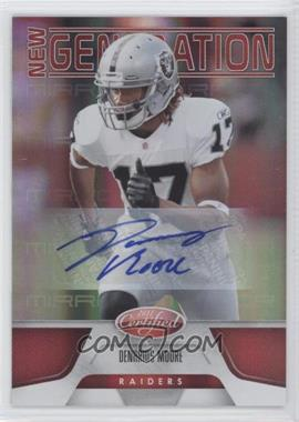 2011 Certified - [Base] - Mirror Red Signatures [Autographed] #176 - Denarius Moore /250