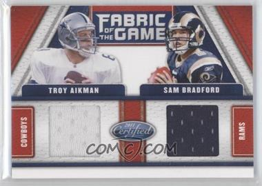 2011 Certified - Fabric of the Game Combos #2 - Sam Bradford, Troy Aikman /150