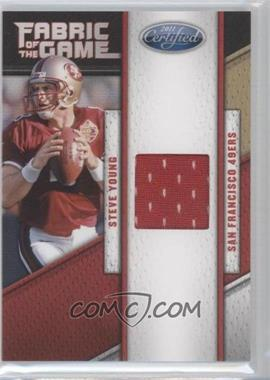 2011 Certified - Fabric of the Game #60 - Steve Young /250