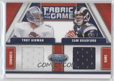 2011 Certified Fabric of the Game Combos #2 - Sam Bradford, Troy Aikman /150