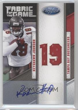 2011 Certified Fabric of the Game Die-Cut Jersey Number Signatures [Autographed] #88 - Keyshawn Johnson /15