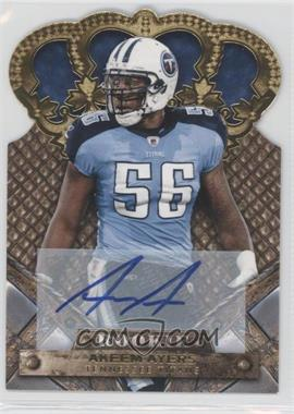 2011 Crown Royale - [Base] - Gold Signatures [Autographed] #104 - Akeem Ayers /499