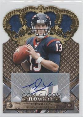 2011 Crown Royale - [Base] - Gold Signatures [Autographed] #194 - T.J. Yates /499