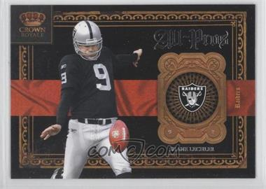 2011 Crown Royale All-Pros #18 - Shane Lechler