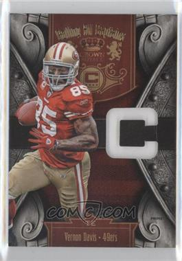 2011 Crown Royale Calling All Captains Materials Prime [Memorabilia] #19 - Vernon Davis /50