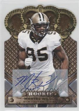 2011 Crown Royale Gold Signatures [Autographed] #161 - Martez Wilson /499