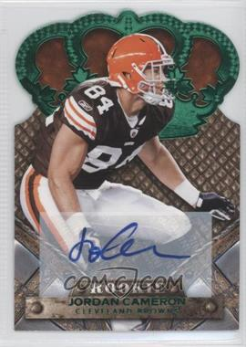 2011 Crown Royale Green Signatures [Autographed] #148 - Jordan Cameron /10