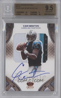 2011 Crown Royale Rookie Patch Silhouette Die-Cuts Materials Prime Signatures Blue #228 - Cam Newton /50 [BGS 9.5]