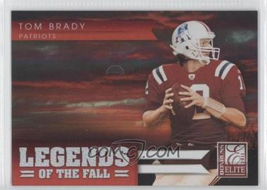 2011 Donruss Elite - Legends of the Fall - Red #24 - Tom Brady /49
