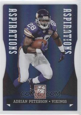 2011 Donruss Elite Aspirations Die-Cut #54 - Adrian Peterson /72