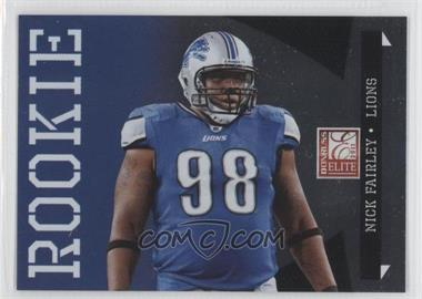 2011 Donruss Elite Rookie Variations #169 - Nick Fairley /999