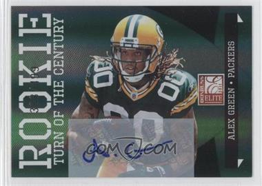 2011 Donruss Elite Turn of the Century Rookie Signatures [Autographed] #107 - Alex Green /499