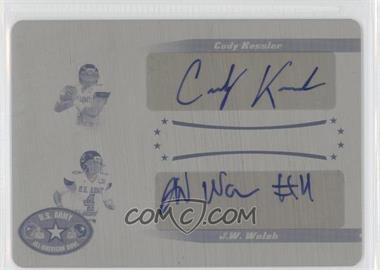 2011 Leaf U.S. Army All-American Bowl Dual Autographs Printing Plate Yellow #DD-25 - Cody Kessler, J.W. Walsh /1