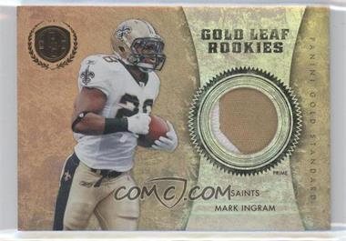 2011 Panini Gold Standard Gold Leaf Rookies Materials Prime [Memorabilia] #10 - Mark Ingram /25