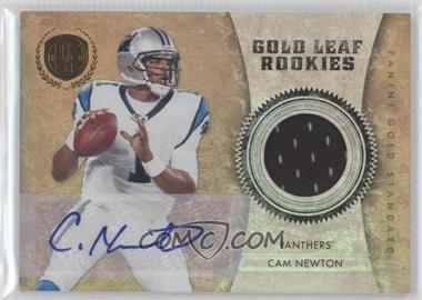 2011 Panini Gold Standard Gold Leaf Rookies Materials Signatures [Autographed] [Memorabilia] #1 - Cam Newton /50