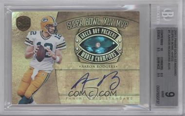 2011 Panini Gold Standard Super Bowl Rings Signatures #1 - Aaron Rodgers /5 [BGS 9]