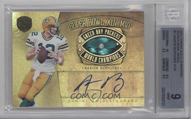 2011 Panini Gold Standard Super Bowl Rings Signatures #1 - Aaron Rodgers /5 [BGS9]
