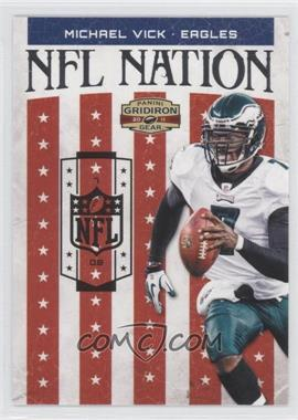 2011 Panini Gridiron Gear - NFL Nation - Silver #28 - Michael Vick /250