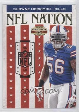 2011 Panini Gridiron Gear NFL Nation Gold #13 - Shawne Merriman /100