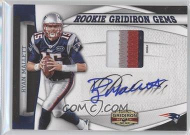 2011 Panini Gridiron Gear Rookie Gridiron Gems Prime Signatures [Autographed] #9 - Ryan Mallett /10