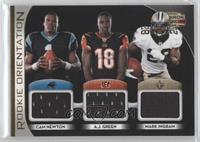 A.J. Green, Mark Ingram, Cam Newton /250