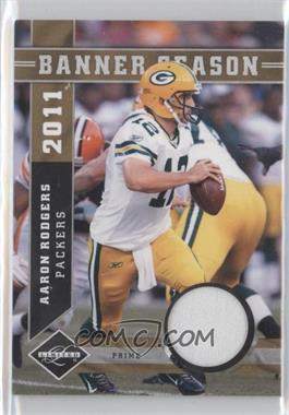 2011 Panini Limited - Banner Season Prime Materials #4 - Aaron Rodgers /50