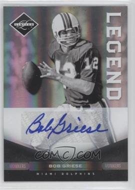 2011 Panini Limited - [Base] - Monikers Silver [Autographed] #132 - Bob Griese /35