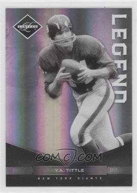 2011 Panini Limited - [Base] - Spotlight Silver #120 - Y.A. Tittle /50