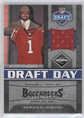 2011 Panini Limited - Draft Day Materials - Limited Jerseys #11 - Adrian Clayborn /100