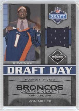 2011 Panini Limited - Draft Day Materials - Limited Jerseys #2 - Von Miller /100