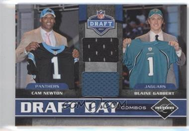 2011 Panini Limited - Draft Day Player Combos Materials #1 - Cam Newton, Blaine Gabbert /100