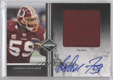 2011 Panini Limited - Jumbo Materials - Prime Signatures [Autographed] #9 - London Fletcher /5