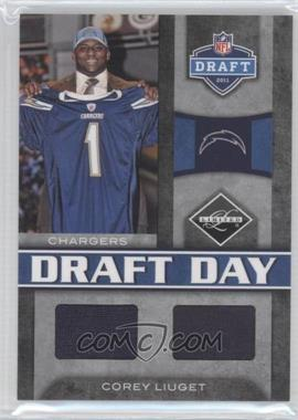 2011 Panini Limited Draft Day Materials Combos #10 - Corey Liuget /50