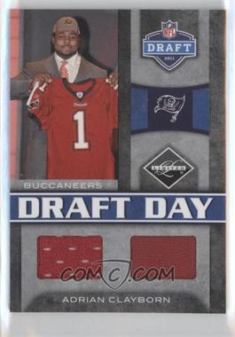 2011 Panini Limited Draft Day Materials Combos #11 - Adrian Clayborn /50