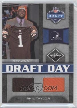 2011 Panini Limited Draft Day Materials Combos #12 - Phil Taylor /50