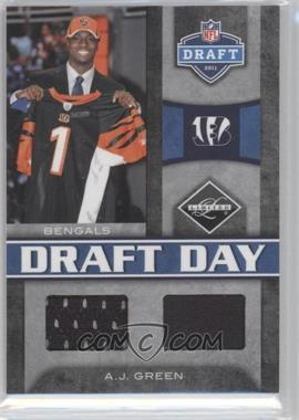 2011 Panini Limited Draft Day Materials Combos #3 - A.J. Green /50