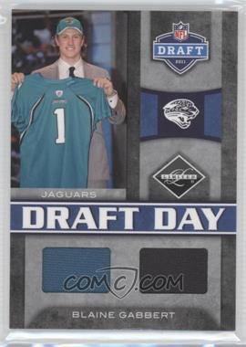 2011 Panini Limited Draft Day Materials Combos #7 - Blaine Gabbert /50