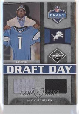 2011 Panini Limited Draft Day Materials Combos #9 - Nick Fairley /50