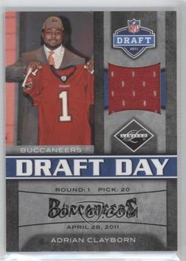 2011 Panini Limited Draft Day Materials Limited Jerseys #11 - Adrian Clayborn /100