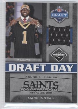 2011 Panini Limited Draft Day Materials Limited Jerseys #13 - Mark Ingram /100