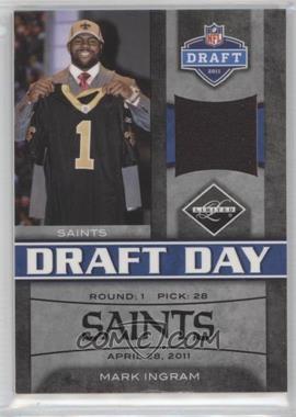 2011 Panini Limited Draft Day Materials Limited Jerseys #13 - Mark Ingram /100