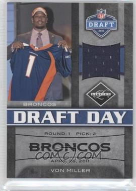 2011 Panini Limited Draft Day Materials Limited Jerseys #2 - Von Miller /100