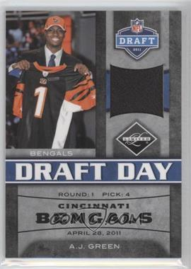 2011 Panini Limited Draft Day Materials Limited Jerseys #3 - A.J. Green /100