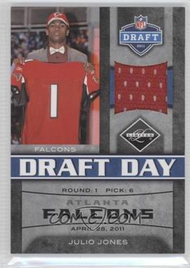 2011 Panini Limited Draft Day Materials Limited Jerseys #4 - Julio Jones /100