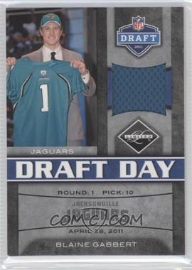 2011 Panini Limited Draft Day Materials Limited Jerseys #7 - Blaine Gabbert /100